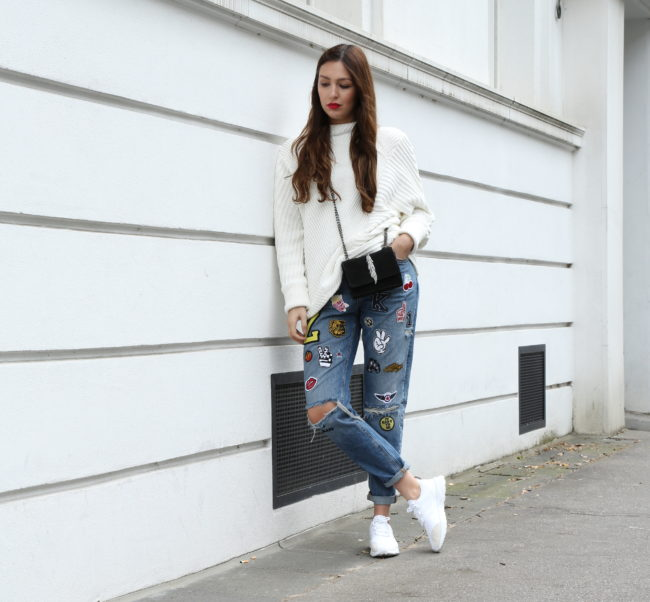 boyfriend jeans patches